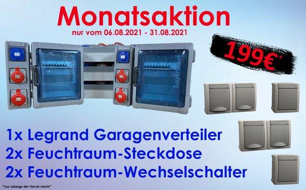 ***August - MONATSAKTION*** Legrand Garagenverteiler 2-reihig IP65 Aufputz Feuchtraum-Verteiler + Gratiszugabe
