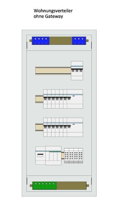Legrand Unterverteiler 4-reihig ohne Smart Home Gateway